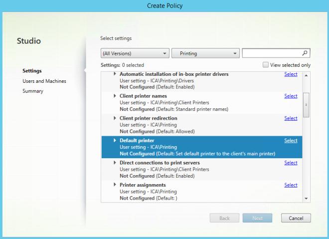 citrix_default_printer_policy