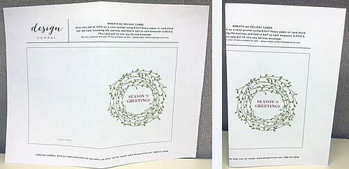 Best Free Printable Holiday Greeting Card Templates